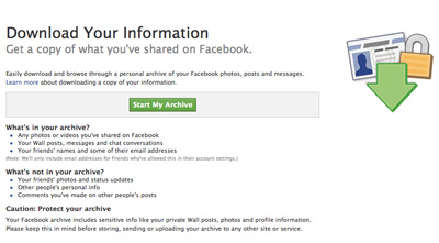Facebook Backup by ribit