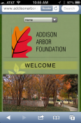 Addison Arbor Foundation Mobile