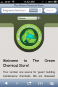 The Green Chemical Store Smartphone