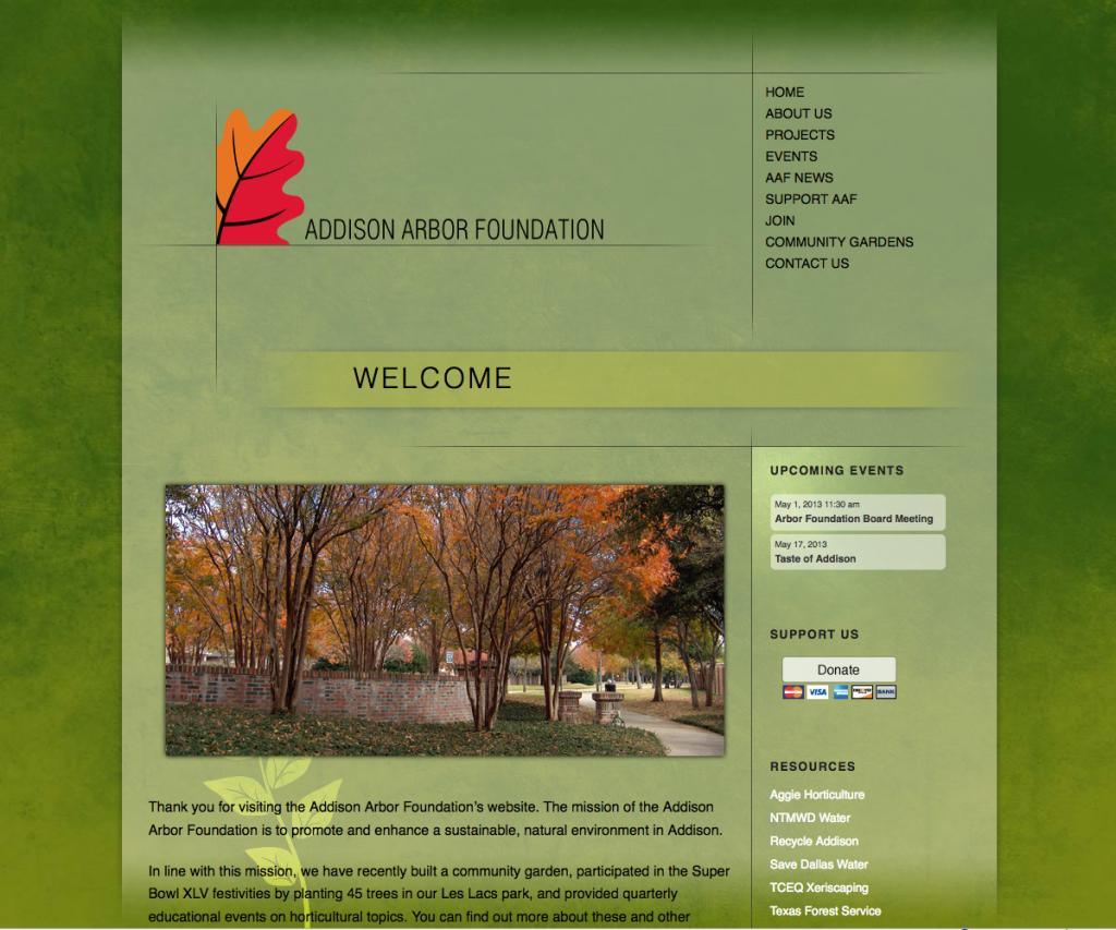 Addison Arbor Web Site Design