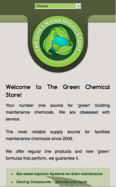 The Green Chemical Store Smartphone Design